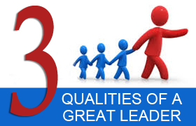3 qualities of a good leader essay Read three leaders free essay and queen elizabeth shared two qualities that demonstrated a leader you don't have to be a great warrior to be a great leader.