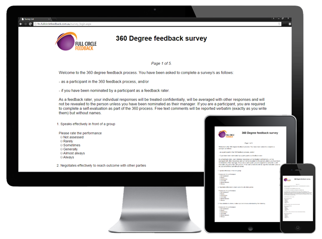 360 Degree Feedback Survey on devices