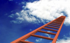 Image of a ladder in the sky