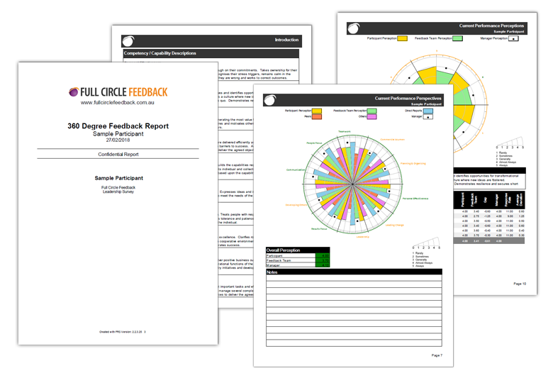 Sample 360 degree feedback report